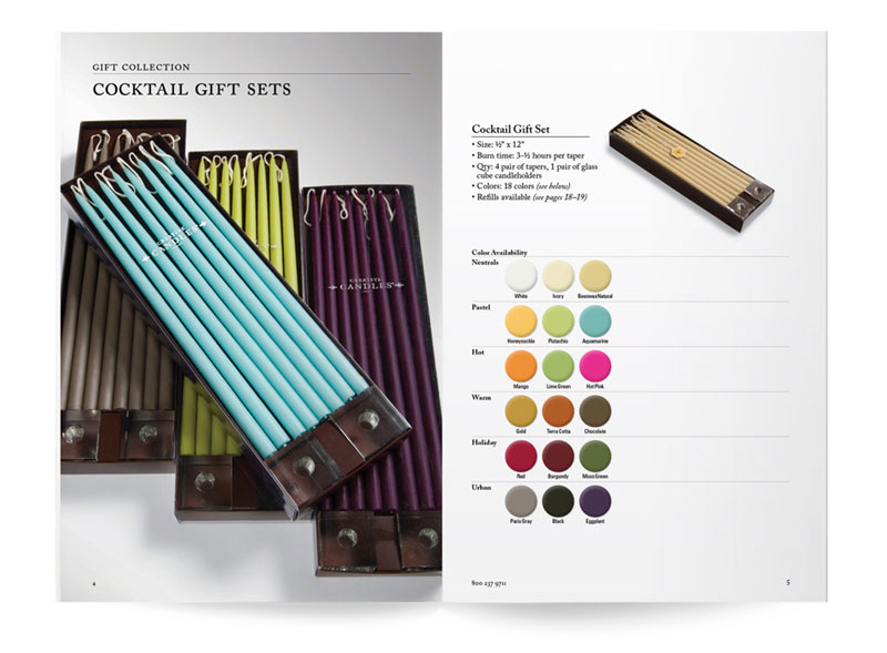 Creative Candles Catalog Layout Design