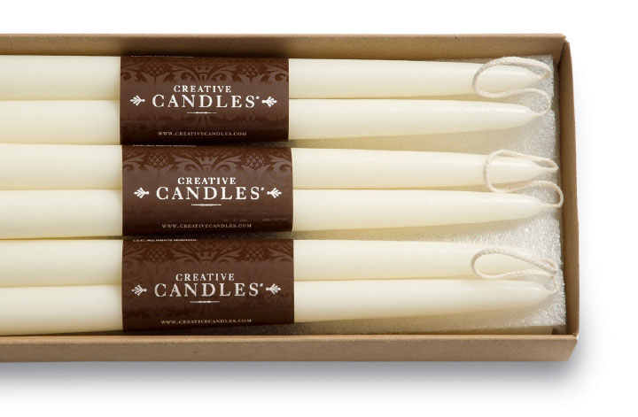 Creative Candles Cigar Band Tapers Packaging