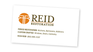 Reid Restoration Business Card Design