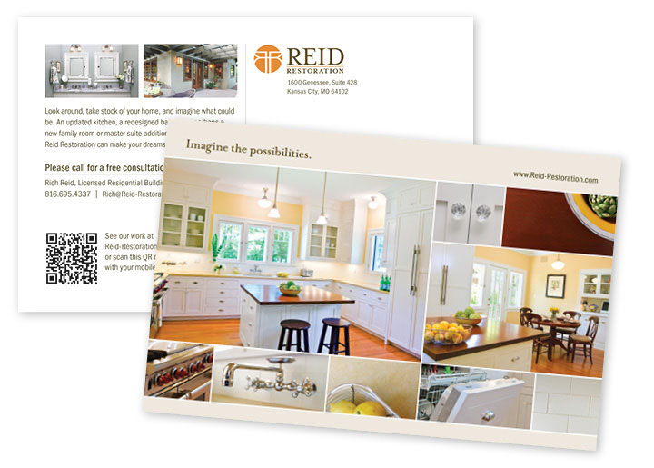 Reid Restoration Direct Mail Collateral Design