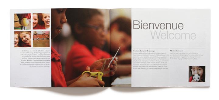 Académie Lafayette brand personality brochure