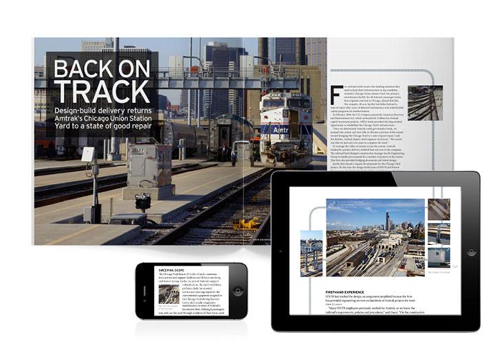 HNTB Designer 98 Magazine Design for iPad and iPhone