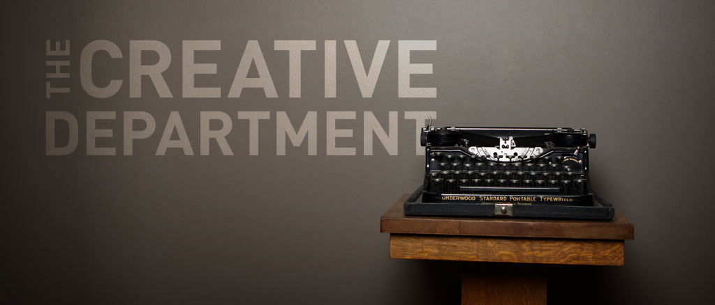 The Creative Department typewriter decor