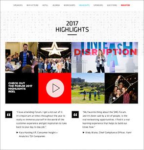 smg forum event website
