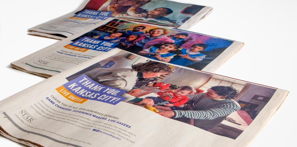 United Way Kansas City Star print ads