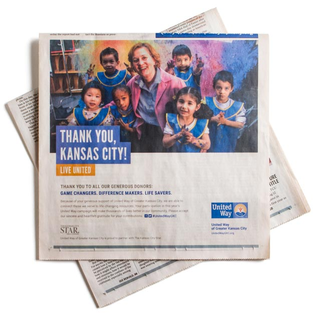 United Way Kansas City Star print ad