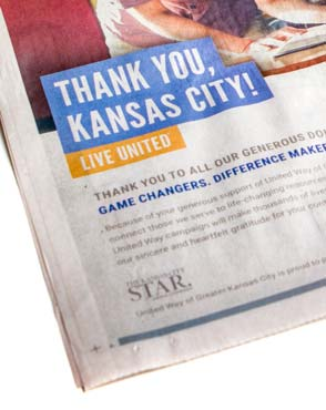 United Way Kansas City Star print ad detail