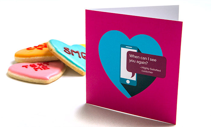 SMG Valentine's Day card cookies client gift