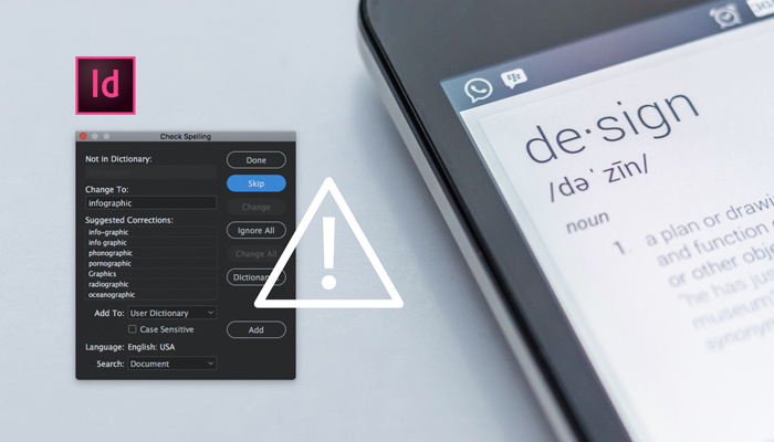 InDesign user dictionary